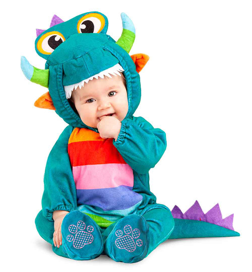 Costume Dragon Douillet pour Bébé