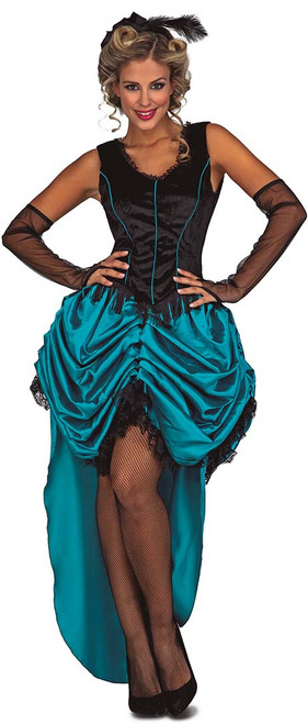 Costume Saloon Bleu Femmes