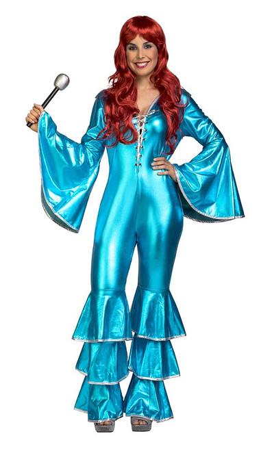 70s Costume Disco Bleu Femmes