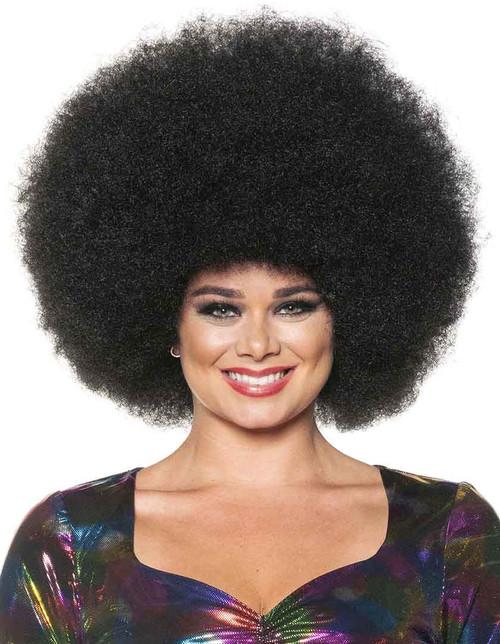 Perruque Afro Noire Géante