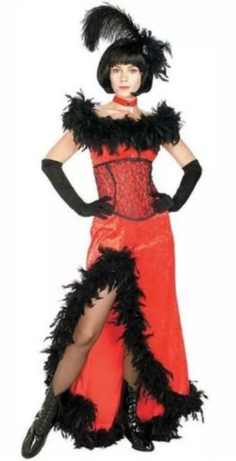 Costume Dame de Saloon Rouge pour Femme