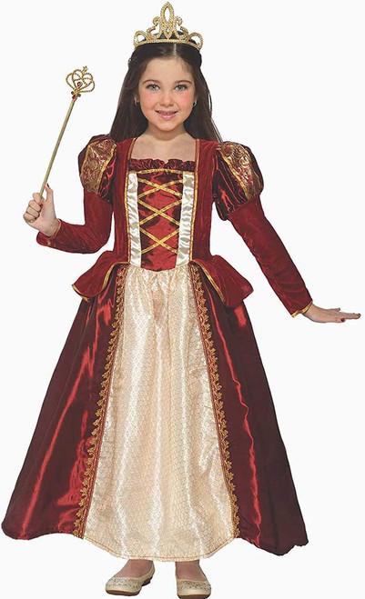 Costume Princesse Rouge Royal pour Fille