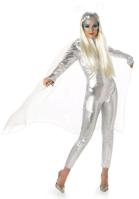 Costume Combinaison Argentée Femme