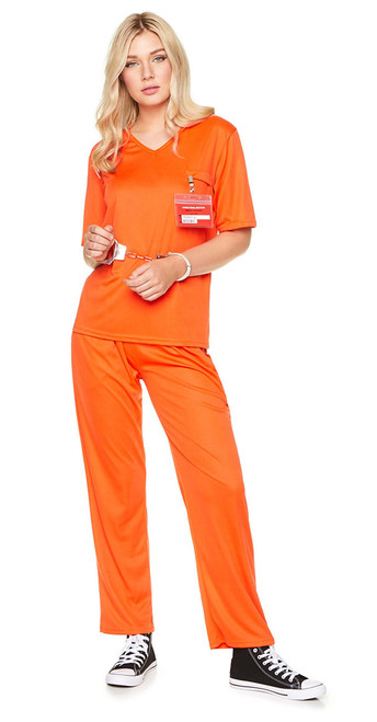 Costume de Prisonnière Orange Femme