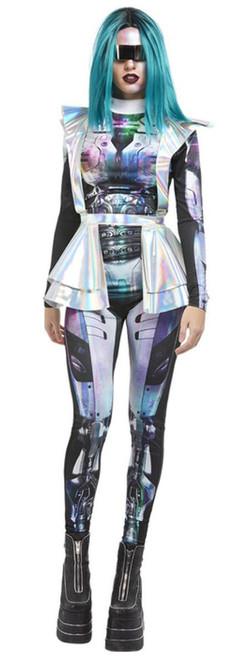 Costume Métallique Extraterrestre pour Femme