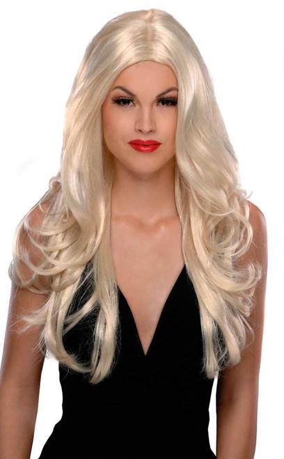 Perruque Longue Blonde Victoria