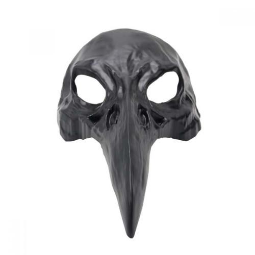 Masque Corbeau Noir Vénitien