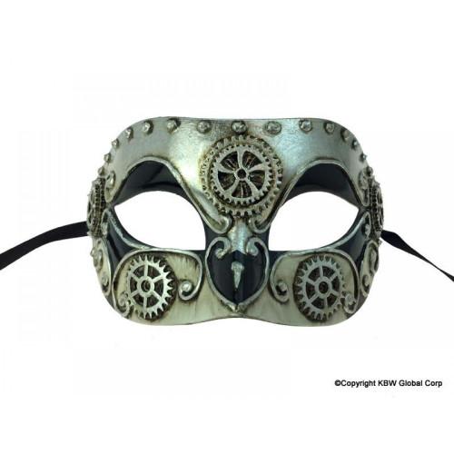 Masque Vénitien Argent Steampunk
