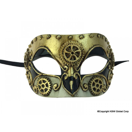 Masque Vénitien Doré Steampunk