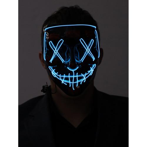 Masque Lumineux Bleu Fluo Cousu