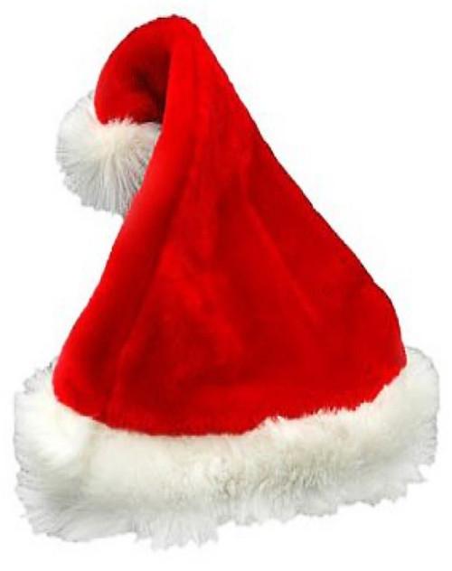 Bonnet de Père Noël Deluxe en Peluche
