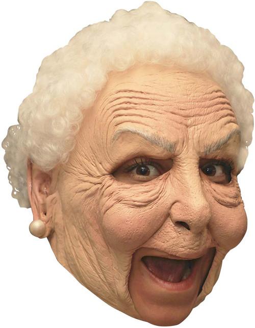 Masque de Grand-Mère sans Menton en Latex Deluxe