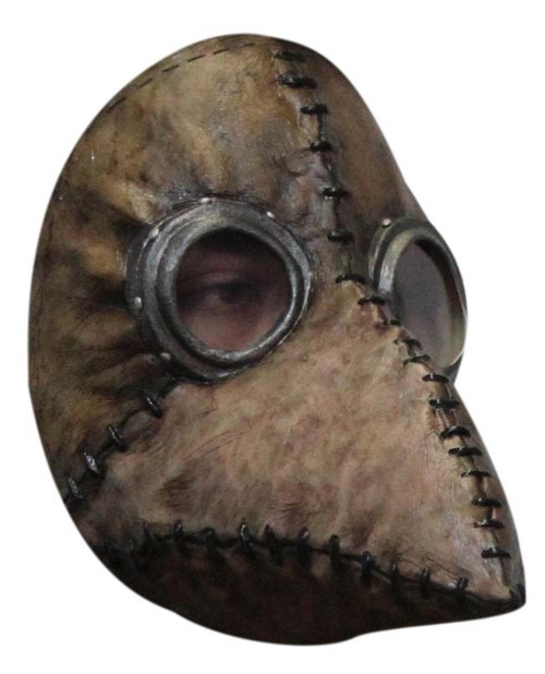Masque de Médecin de la Peste en Latex Brun