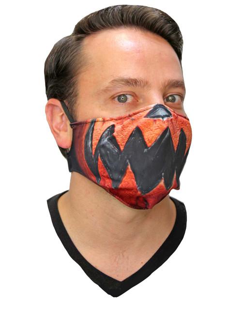 Masque en Tissu de Citrouille D'Halloween