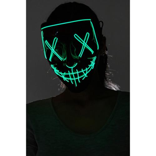 Masque Lumineux Verte Fluo Cousu