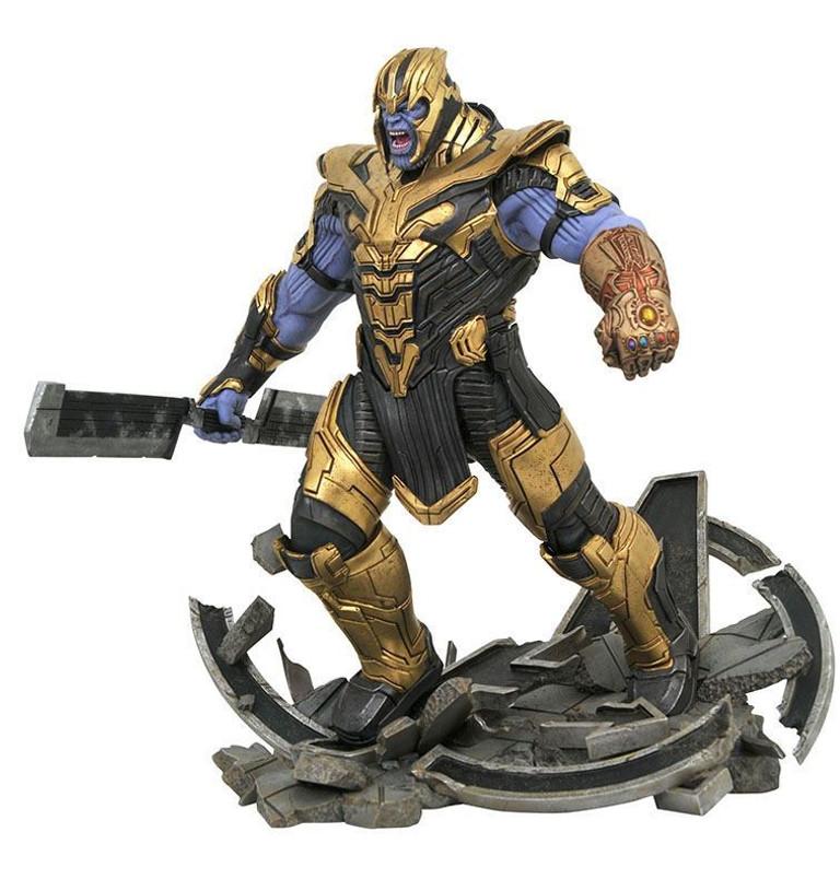 Marvel Movie Milestones Avengers Endgame Armored Thanos Resin Statue