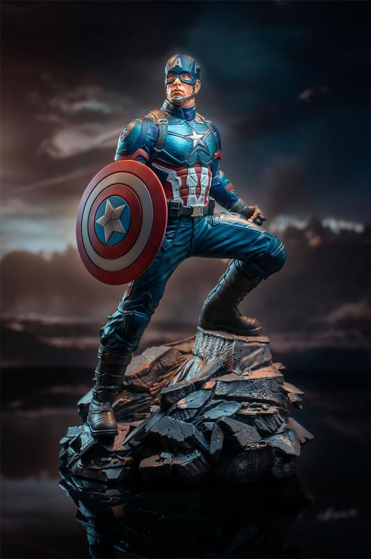 Marvel Movie Premier Collection Avengers Endgame Captain America Resin Statue