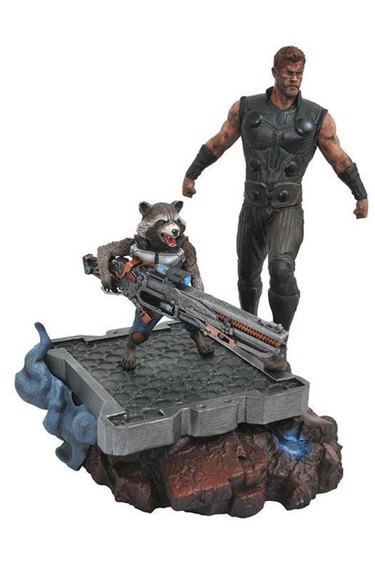 Marvel Premier Collection Avengers Infinity War Thor & Rocket Resin Statue