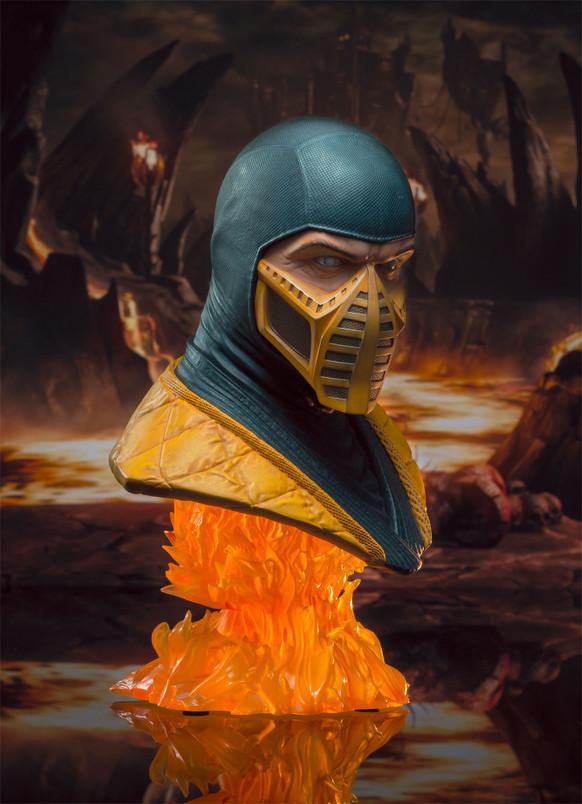Mortal Kombat Scorpion Legends in 3-Dimensions 1:2 Scale Bust