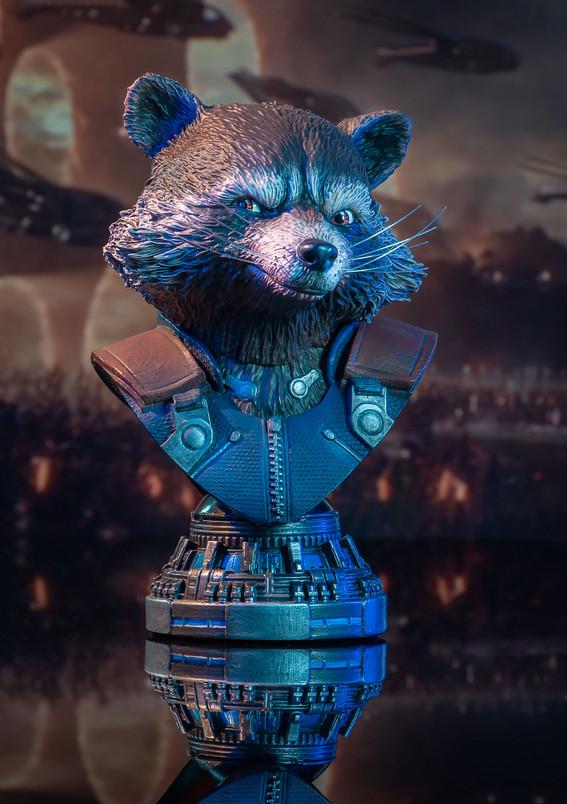 Marvel Avengers - Endgame Rocket Legends in 3-Dimensions 1:2 Scale Bust