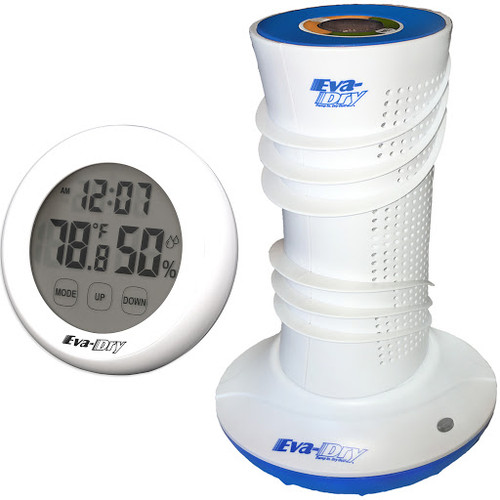 Dehumidifier and Hygrometer Bundle: Eva-Dry Air Dry System Dehumidifier