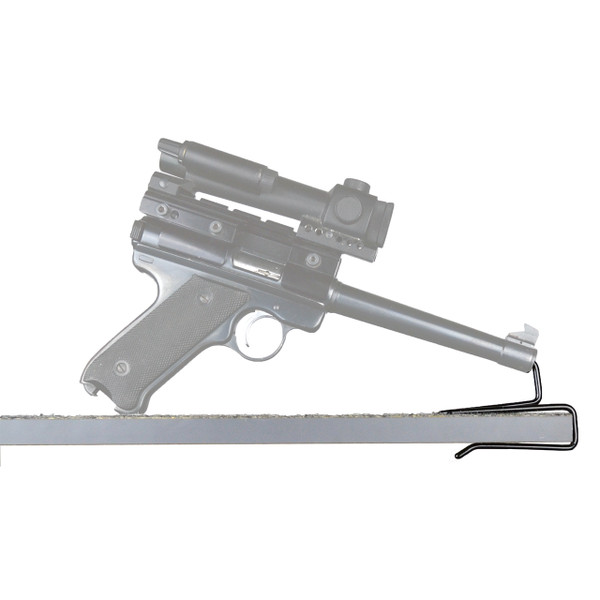 back-over handgun hangers pistol storage side view