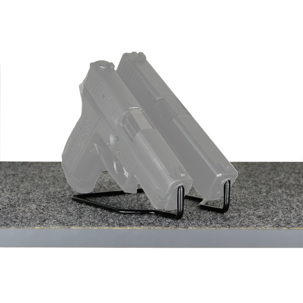 Double wire pistol display stand - Duelies - shelf gun storage