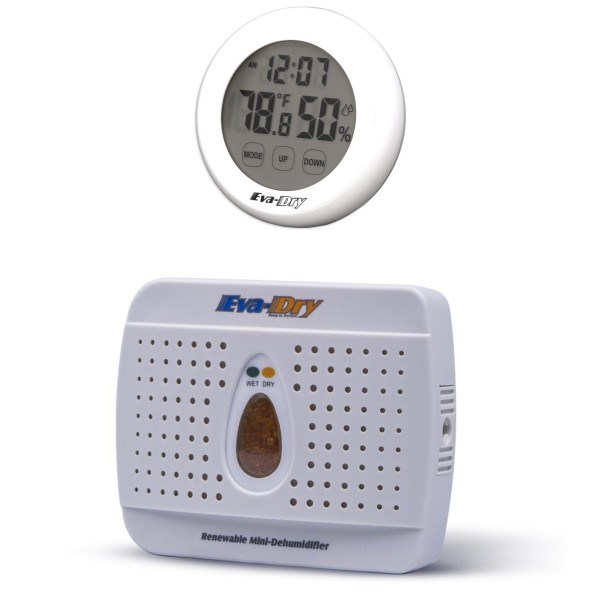 Dehumidifier and Hygrometer Bundle: Eva Dry E-333 Dehumidifier