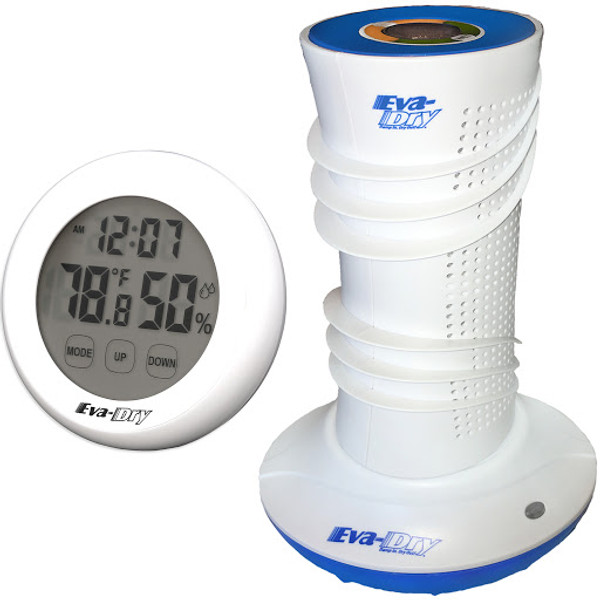 Dehumidifier and Hygrometer Bundle: Eva-Dry Air Dry System Dehumidifier