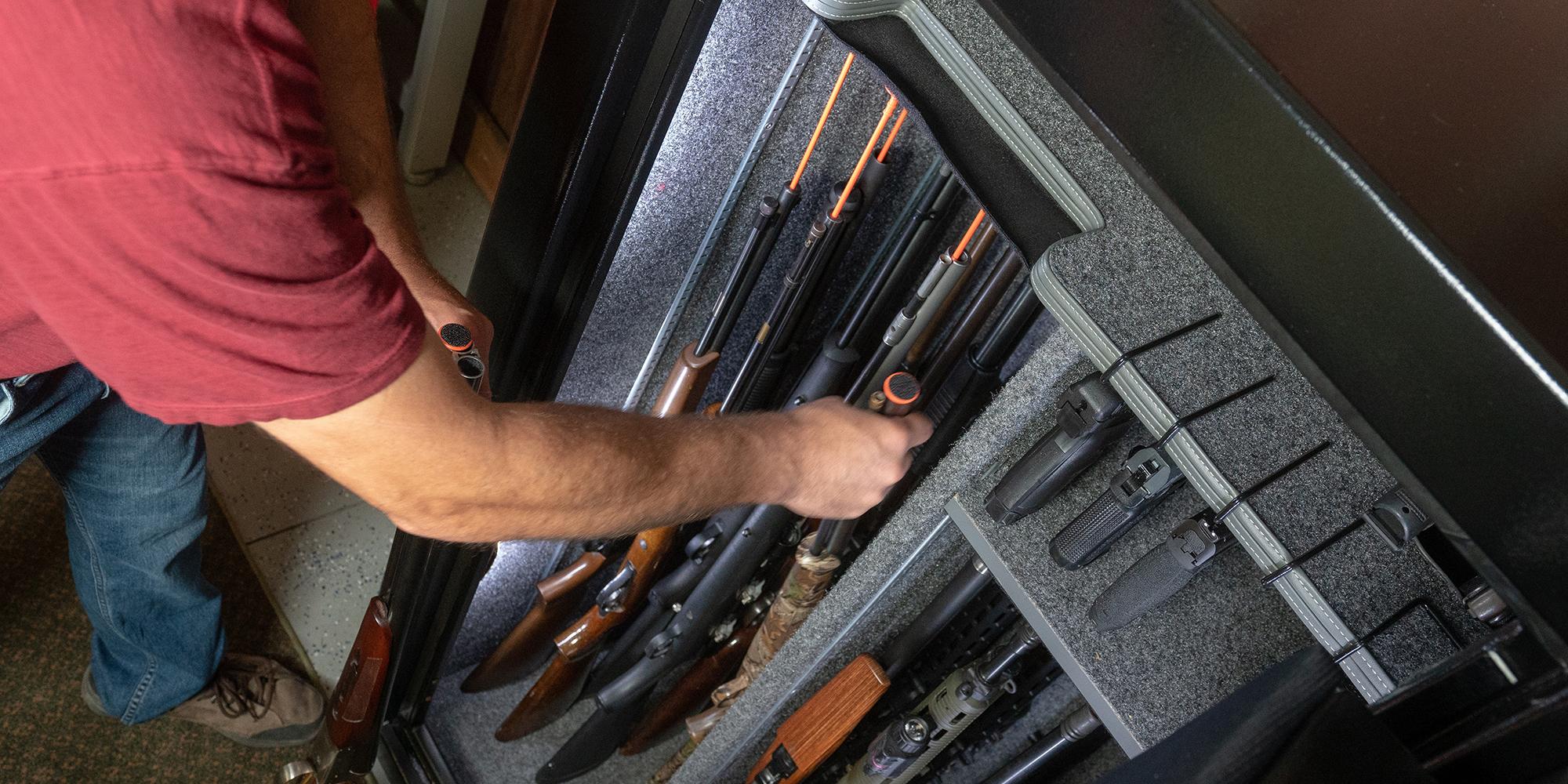 Gun Storage Solutions Rifle Rods Handgun Hangers Gun