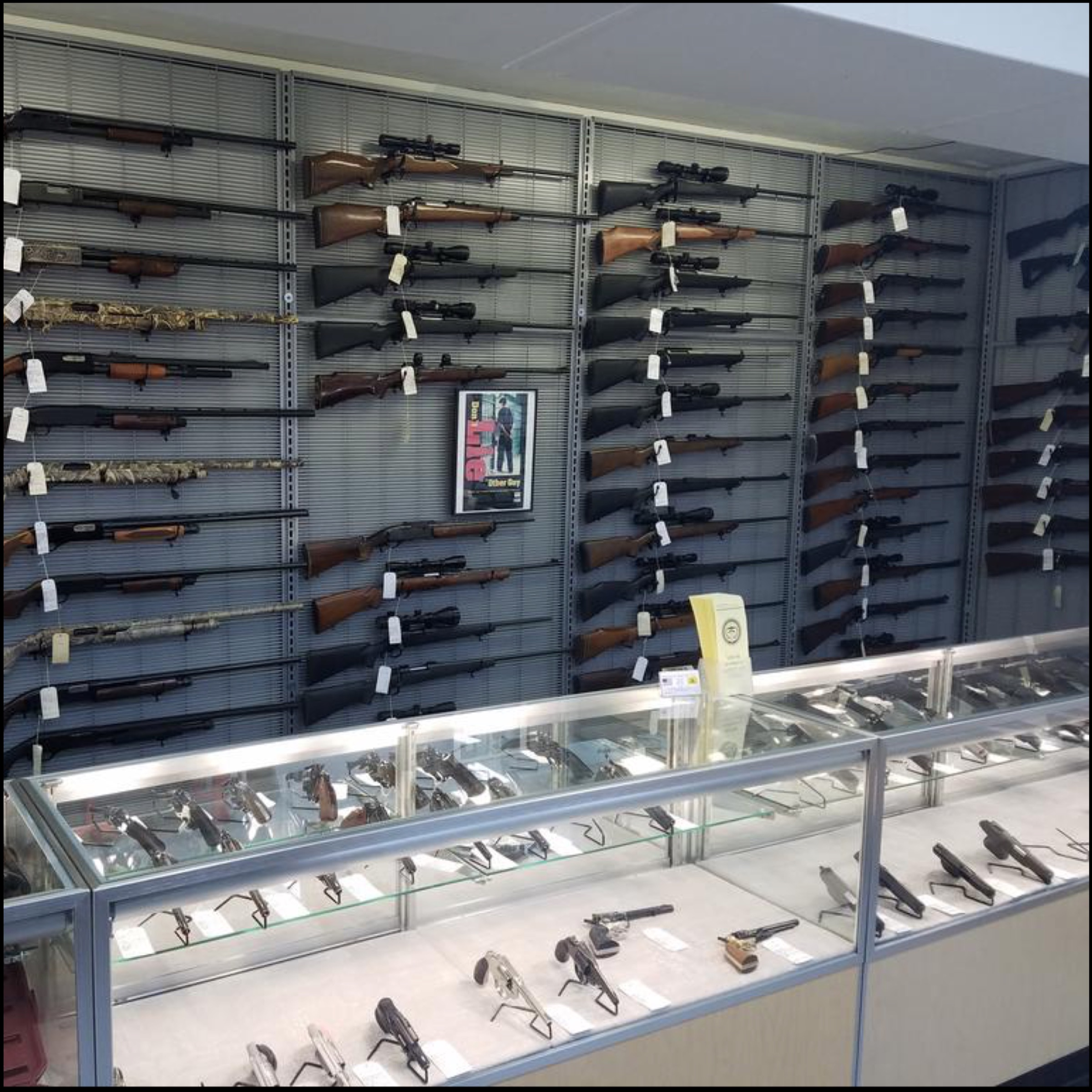 gun shop display cabinet