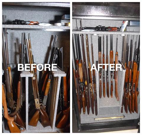 John Does gun safe with rifle rods