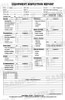 Equipment Inspection Form and Checklist