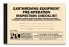Earthmoving Equipment Checklist