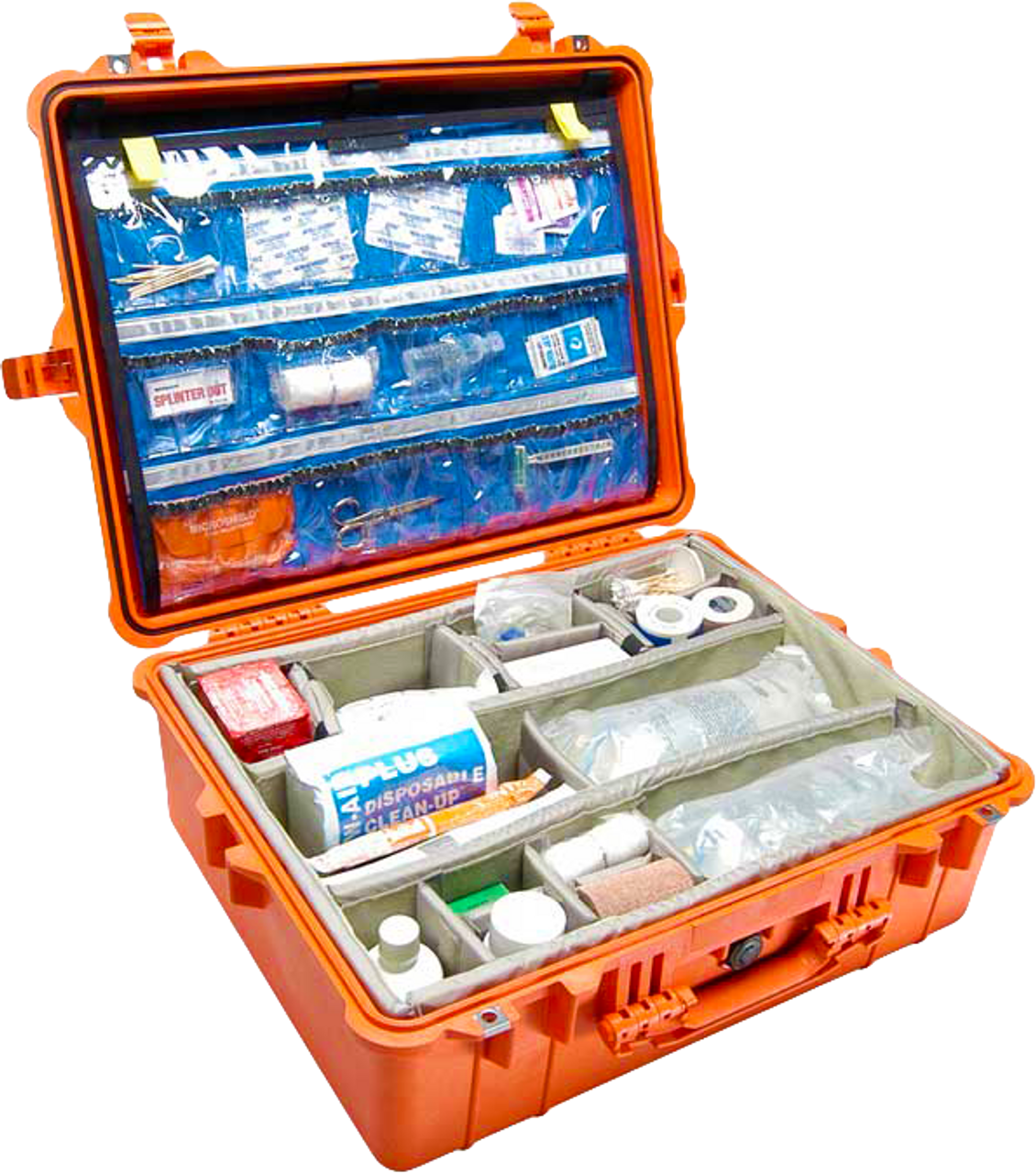 Pelican 1600EMS Case with Organizers & Dividers (supplies shown are for demonstration purposes only and are NOT included)