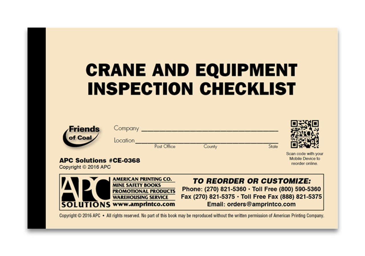 Mobile Crane Safety Inspection Checklist