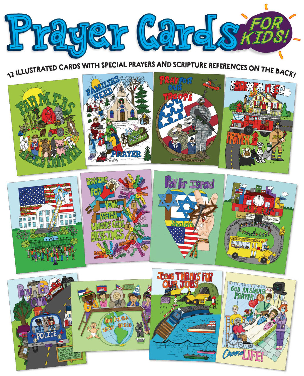 Teach kids how to pray with Prayer Cards for Kids!