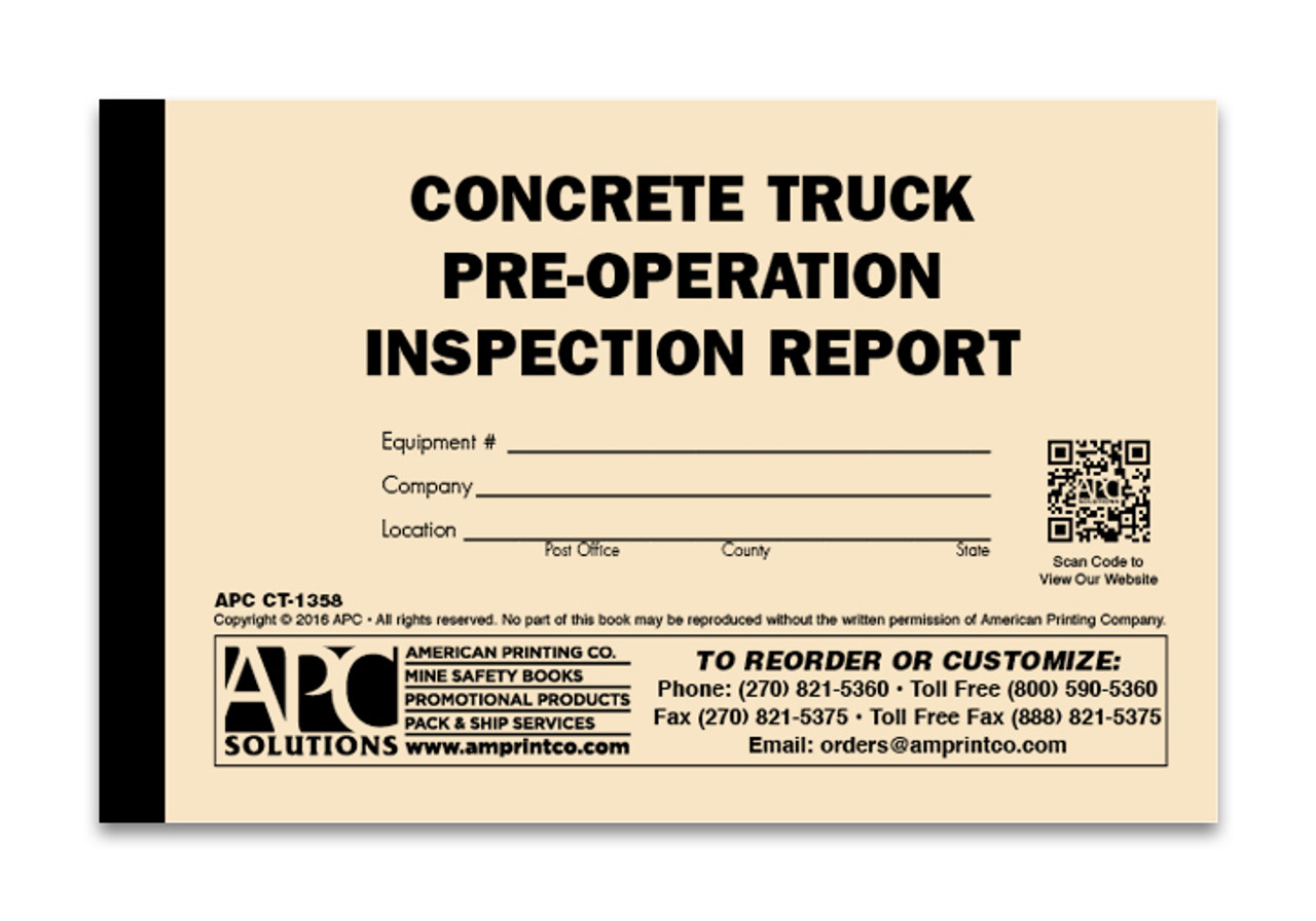 Concrete Mixer Truck Inspection Checklist