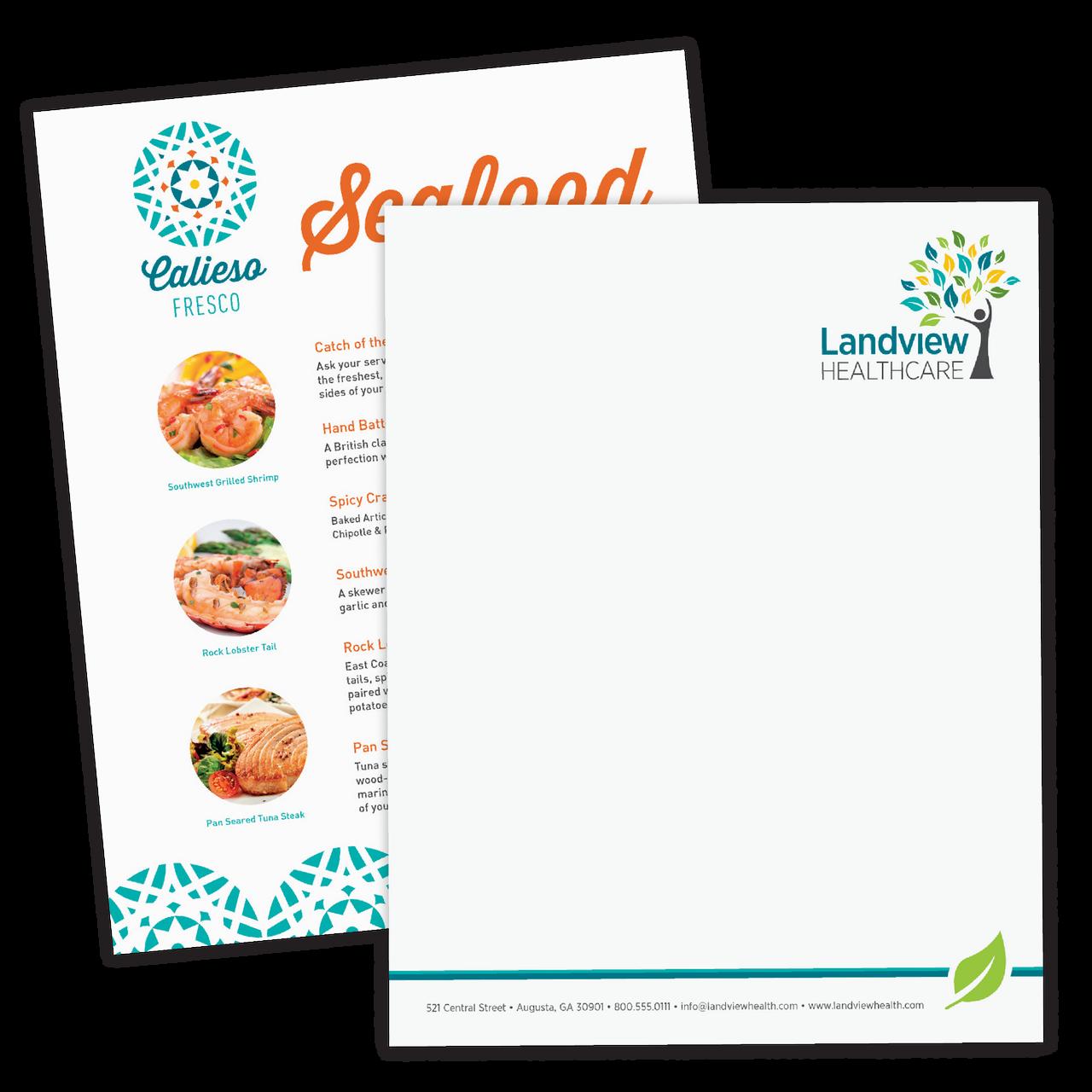 Full Color Digital Letterhead — Laser & Inkjet Compatible