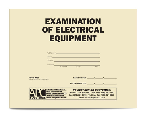 APC 6-1492: Examination of Electrical Equipment — Front Cover