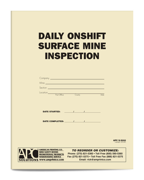 APC S-5000 Daily On-Shift Surface Mine Inspection