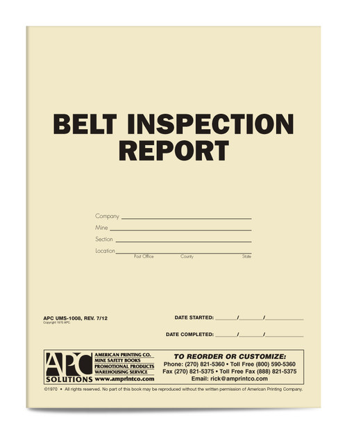 Belt Inspection Report