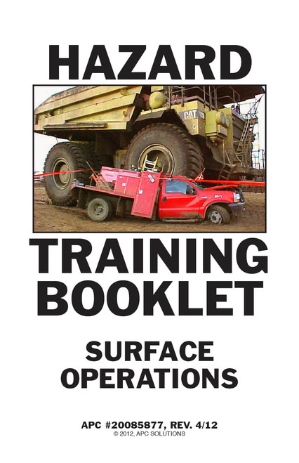 Mine Safety Training Book Surface Operations Cover