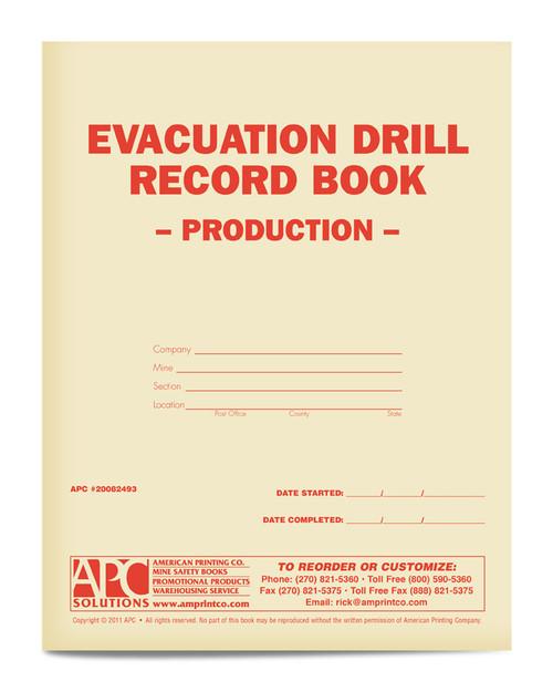 APC 20082493: Evacuation Drill Record Book – Production