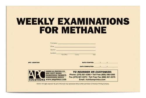 Weekly Examination For Methane Book Cover