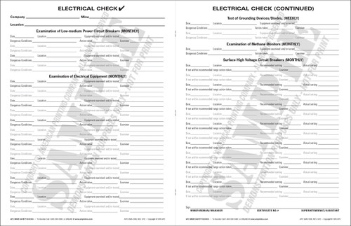 APC UMS-1006: Electrical Check (APC UMS-1006) — Inside Text Spread