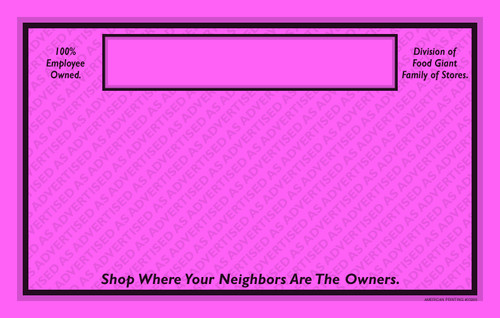 33265 As Advertised 11 x 7 Pink  POP Point of Purchase Signs