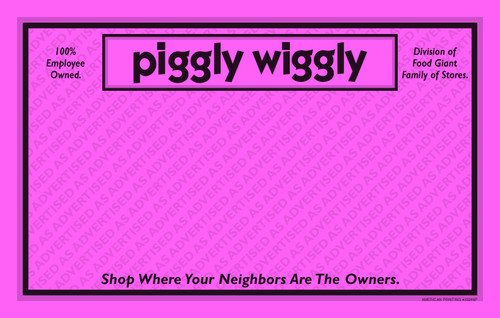 33265P As Advertised 11 x 7 Pink Store Name POP Point of Purchase Signs