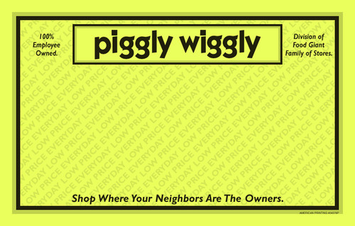 34379P Everyday Low Price 11 x 7 Yellow Store Name POP Point of Purchase Signs