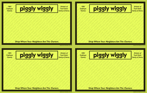 33728P Everyday Low Price 5.5 x 3.5 Yellow Store Name POP Point of Purchase Signs
